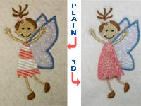 3D Fairies Machine Embroidery Designs