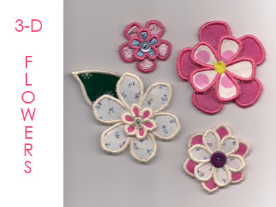 3D Flowers Machine Embroidery Designs
