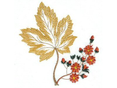 5x7 Autumn Leaves Machine Embroidery Designs