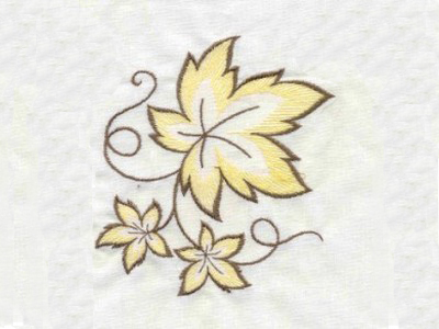 Large Openwork Fall Leaves Embroidery Machine Design