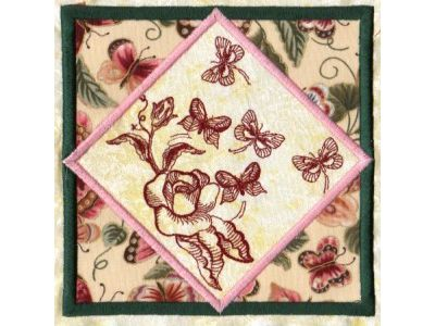 6x9 Butterfly Quilt Blocks Machine Embroidery Designs
