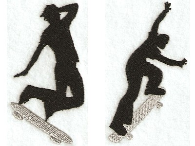 Extreme Skateboarders Machine Embroidery Designs
