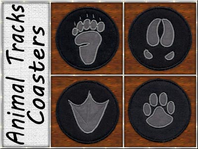 Animal Tracks Coasters