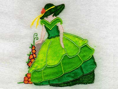 Machine Embroidery Designs Applique Bonnets And Birds Set