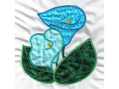 Applique Calla Lilies Embroidery Machine Design