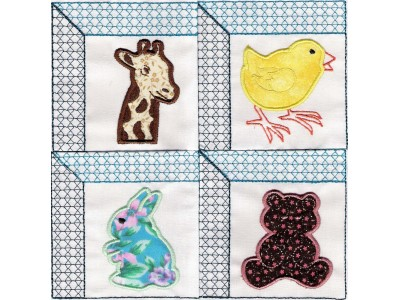 Applique Animal Quilt Windows