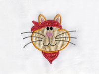 Applique Kitty Kats Machine Embroidery Designs