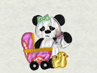 Applique Pandas Machine Embroidery Designs