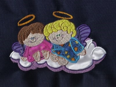 Applique Chubby Angels Machine Embroidery Designs