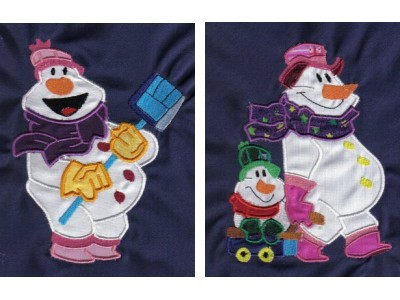 Applique Snowman