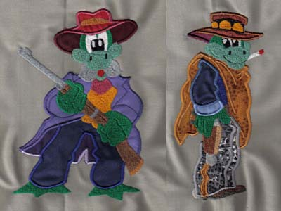 Free Machine Embroidery Alligator Designs - Free