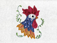 Applique Roosters Machine Embroidery Designs