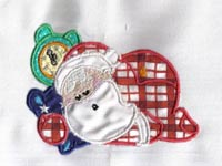 Applique Santas Machine Embroidery Designs