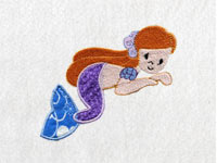 Applique Mermaids 2 Machine Embroidery Designs