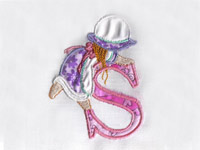 Applique Sunbonnet Alphabet Machine Embroidery Designs