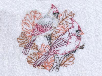 Autumn Birds and Leaves
