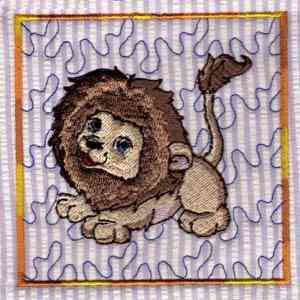 Lions Embroidery Designs