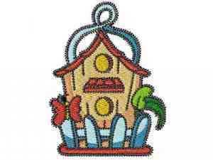 Beautiful Birdhouses Machine Embroidery Designs