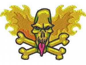 Bike Week Skulls Embroidery Machine Design