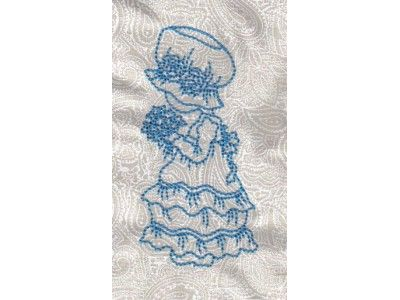 Blue Work Bonnets Machine Embroidery Designs