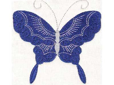 Borderless Butterflies 2 Embroidery Machine Design