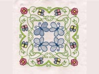 Butterflies and Flowers Blocks Machine Embroidery Designs