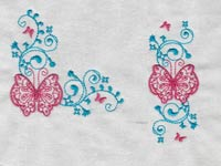 Butterfly Borders and Corners Machine Embroidery Designs