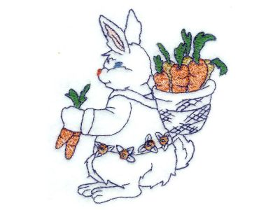 BW Cute Bunnies Machine Embroidery Designs