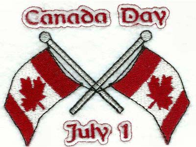 Canada Day Embroidery Machine Design