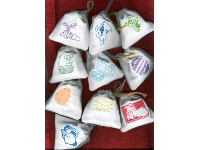 Easter Candy Bags Machine Embroidery Designs
