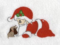 Christmas Babies 2 Machine Embroidery Designs