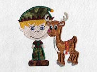 Cute Christmas Elves Machine Embroidery Designs