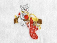 Christmas Kitties Machine Embroidery Designs
