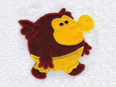 Chubby Applique Monsters Machine Embroidery Designs