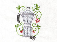 Coffee Aromas Machine Embroidery Designs