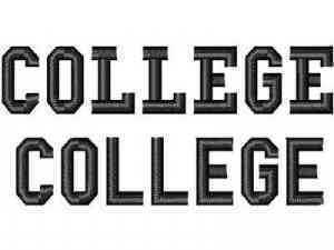 College Font Machine Embroidery Designs