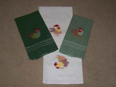 Colorful Roosters Machine Embroidery Designs
