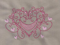 Colorline Hearts Machine Embroidery Designs