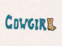 Cowgirl Phrases Machine Embroidery Designs