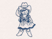 Blueline Cowgirls 2 Machine Embroidery Designs