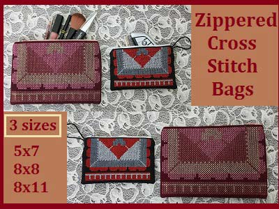 Zippered Cross Stitch Bags