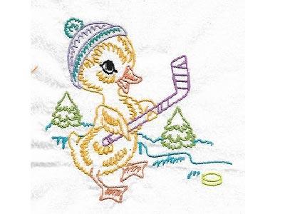 Cute Animals In Winter Machine Embroidery Designs