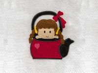 Cute Funny Girls Machine Embroidery Designs