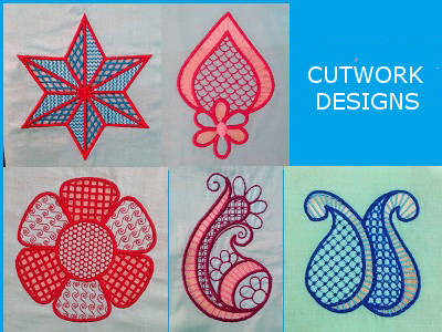 Machine Embroidery Designs Cutwork Embroidery Set