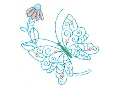 Colorwork Butterfly Flowers Machine Embroidery Designs