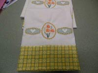 Daffodil Spring Pillowcases Machine Embroidery Designs