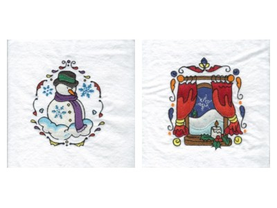 Deco Christmas 2 Embroidery Machine Design