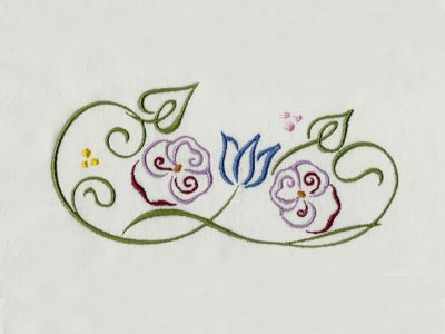 Decorative Flower Embellishments Embroidery Machine Design