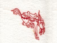 Decorative Redwork Cowboy Horses Machine Embroidery Designs