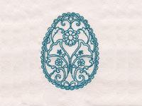 Decorative Redwork Easter Eggs Machine Embroidery Designs